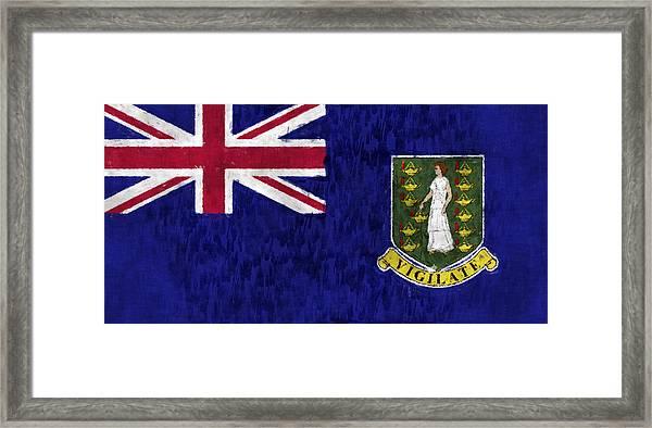 British Virgin Islands Flag Framed Print