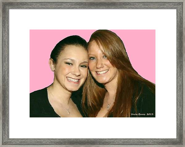 Brittany And Nicole Nutting Framed Print
