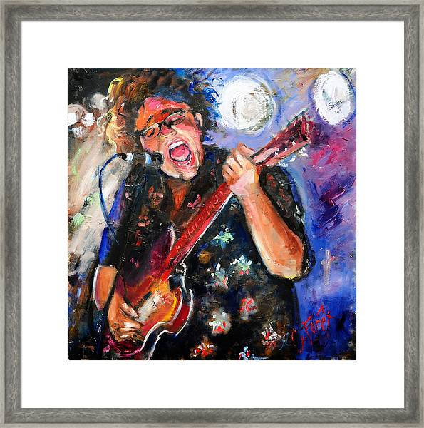 Brittany Howard Of The Alabama Shakes Framed Print by Carole Foret