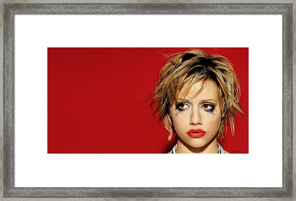 Brittany Murphy Tribute Framed Print