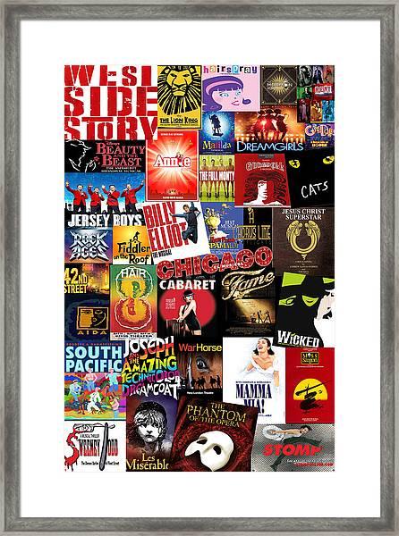 Broadway 4 Framed Print