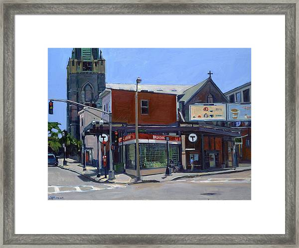Broadway Station Framed Print