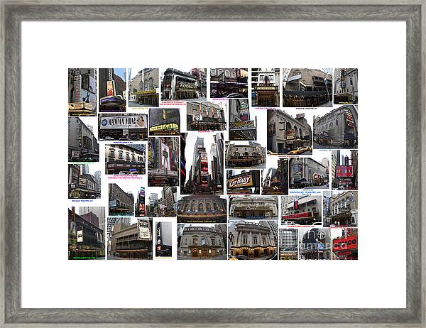 Broadway Theatre Collage Framed Print