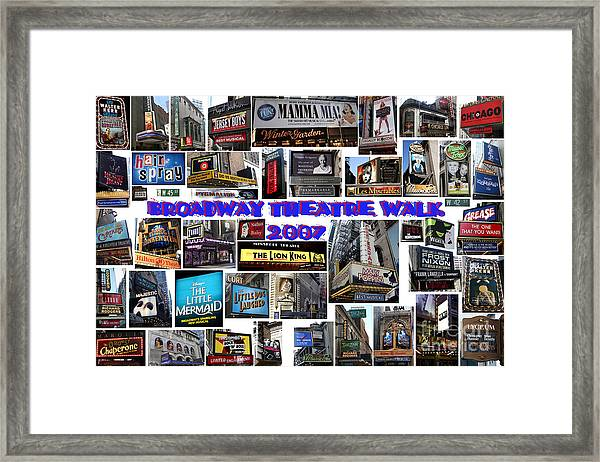 Broadway Theatre Walk 2007 Collage Framed Print