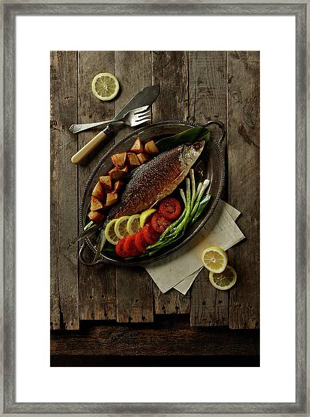 Broiled Fish Framed Print