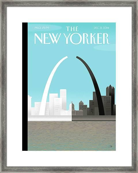 Broken Arch. A Scene From St. Louis Framed Print