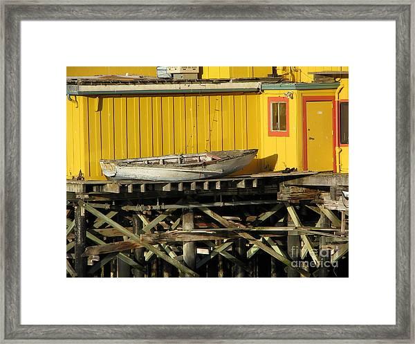 Broken Boat Fisherman's Wharf Framed Print