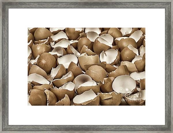 Broken Eggshells Framed Print