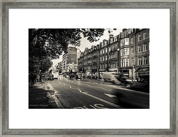 Brompton Road Knightsbridge Framed Print