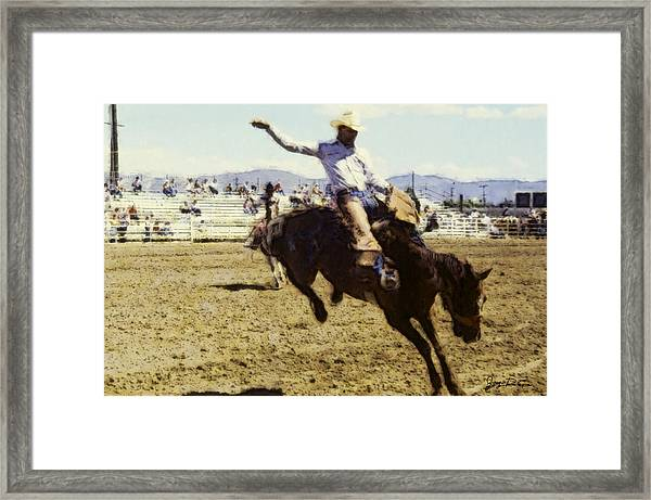 Bronco Rider Framed Print