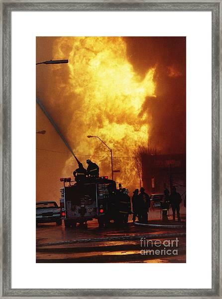 Bronx Gas Explosion Framed Print