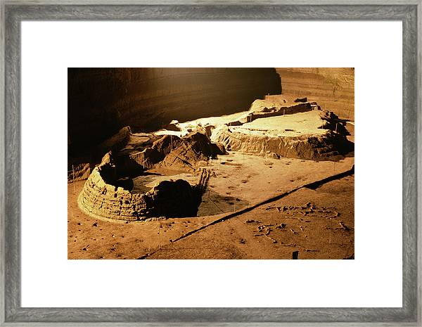 Bronze Age Archaeological Site Framed Print by Pasquale Sorrentino/science Photo Library