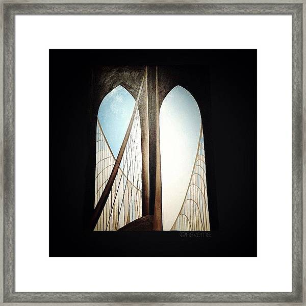 'brooklyn Bridge' By Georgia Framed Print by Natasha Marco
