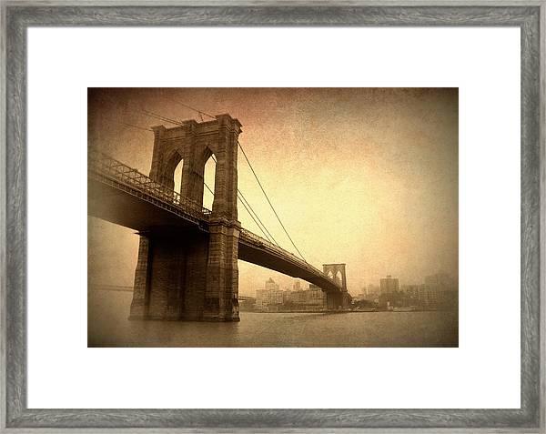 Brooklyn Bridge Nostalgia II Framed Print