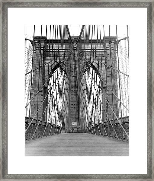 Brooklyn Bridge Promenade Framed Print