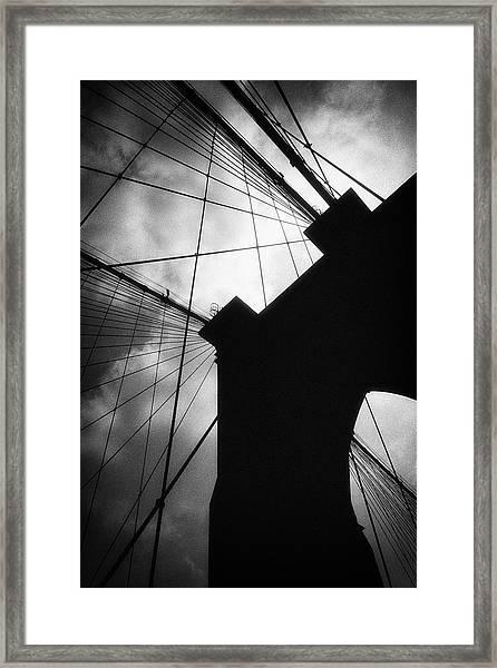 Brooklyn Bridge Silhouette Framed Print
