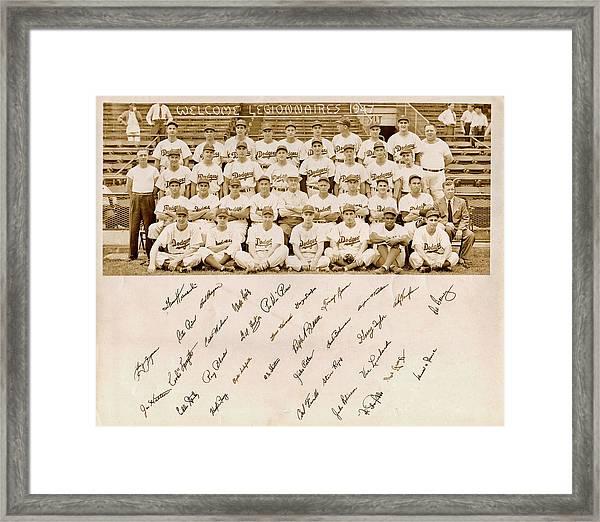 Brooklyn Dodgers Baseball Team Framed Print