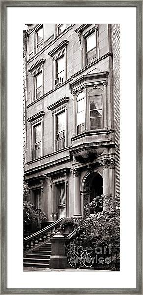 Brooklyn Heights -  N Y C - Classic Building And Bike Framed Print