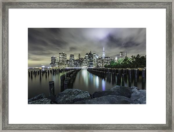 Brooklyn On The Rocks  Framed Print