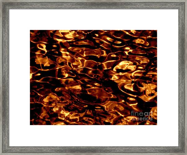 Brown Abstract Plants Framed Print
