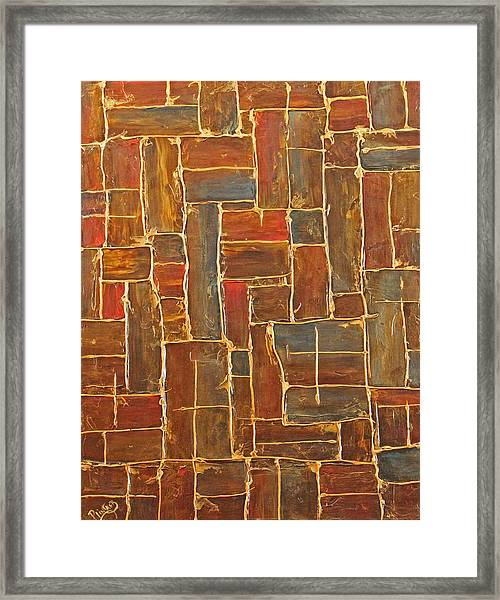 Brown And Gold  Framed Print