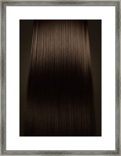 Brown Hair Perfect Straight Framed Print