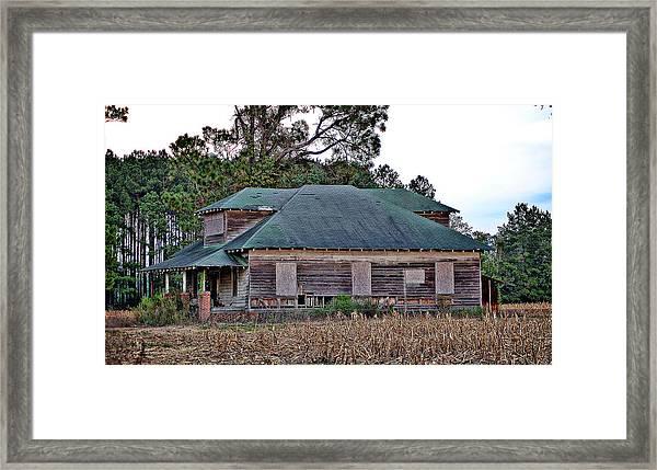 Brown House Framed Print by Linda Brown