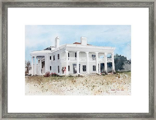 Brown Mansion Framed Print