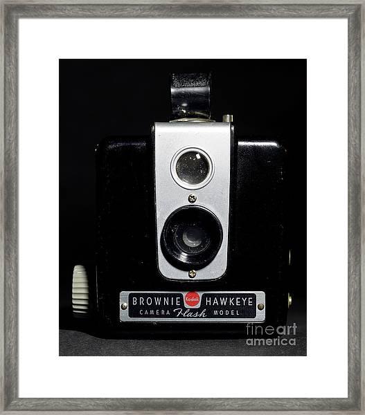 Brownie Hawkeye Flash Camera Framed Print
