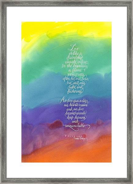 Bruce Lee On Love Framed Print