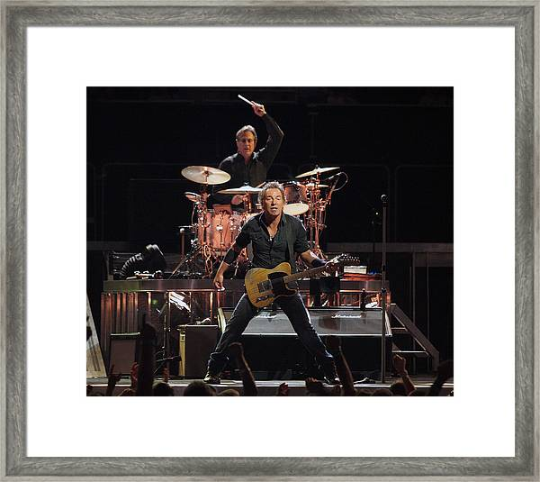 Bruce Springsteen In Concert Framed Print