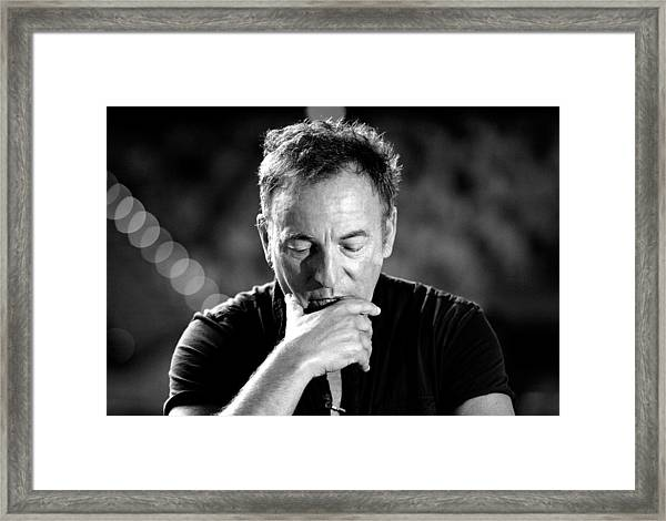 Bruce Springsteen Media Call Framed Print