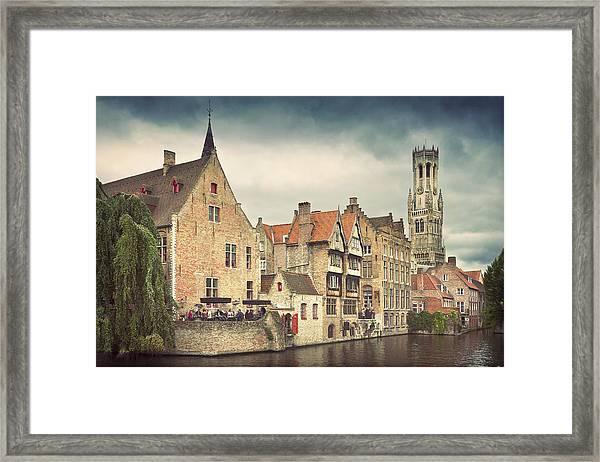 Brugge Framed Print by Ellen Van Bodegom