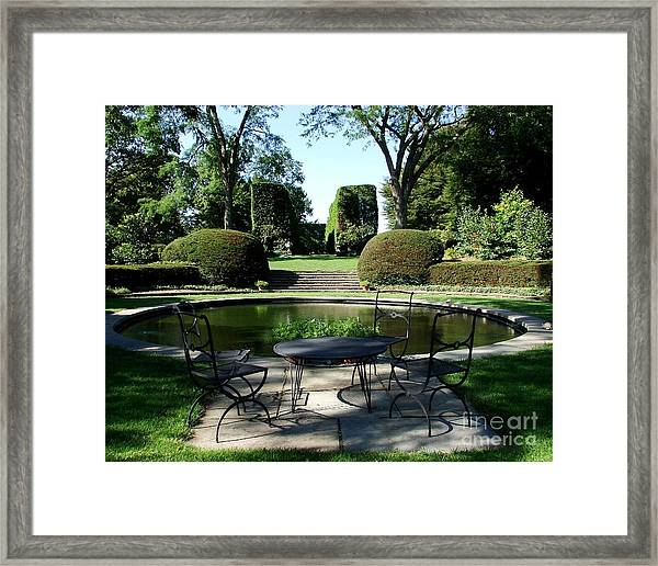 Brunch At Wethersfield Framed Print