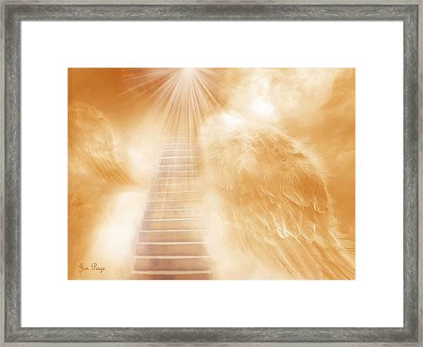 Brush Of Angels Wings Framed Print
