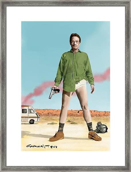 Bryan Cranston As Walter White  @ Tv Serie Breaking Bad Framed Print