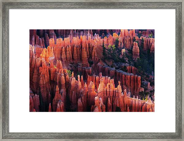 Bryce Canyon At Sunset Framed Print