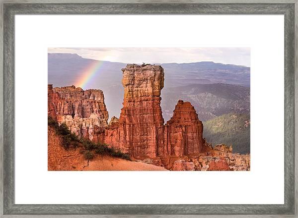 Bryce Canyon In Rain Framed Print