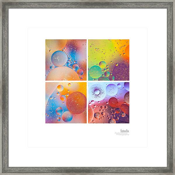 Bubbles I Framed Print