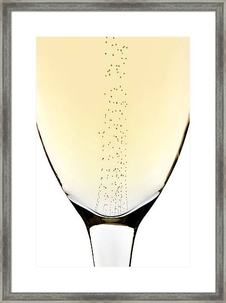 Bubbles In Champagne Framed Print