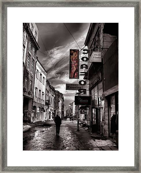 Bucharest Street Framed Print