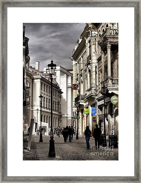 Bucharest The Little Paris Framed Print