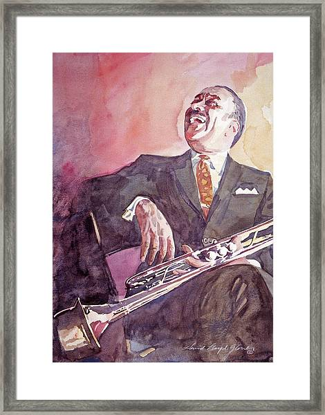 Buck Clayton Jazz Horn Framed Print
