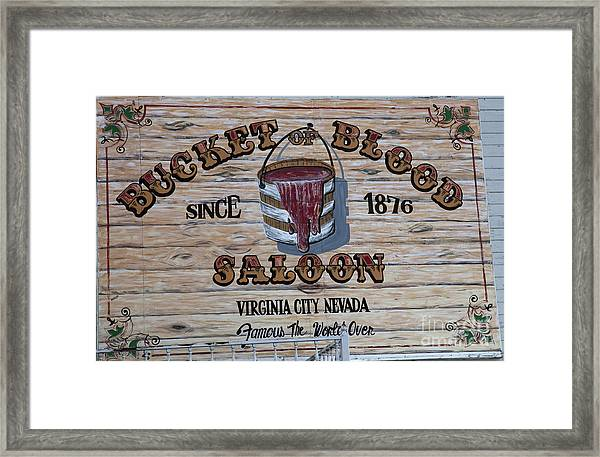 Bucket Of Blood Saloon 1876 Framed Print