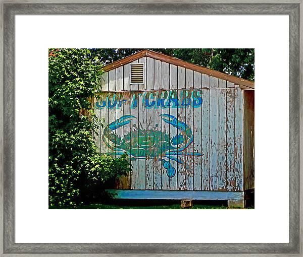 Buckroe Crab Shack Framed Print