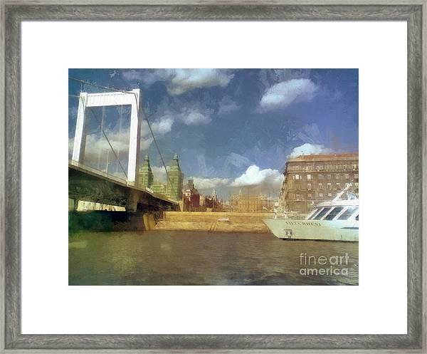Budapest Elisabeth Bridge Framed Print