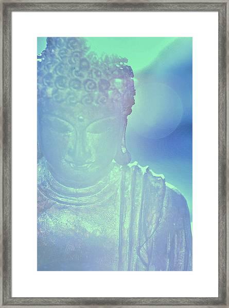 Buddah Bokeh Framed Print