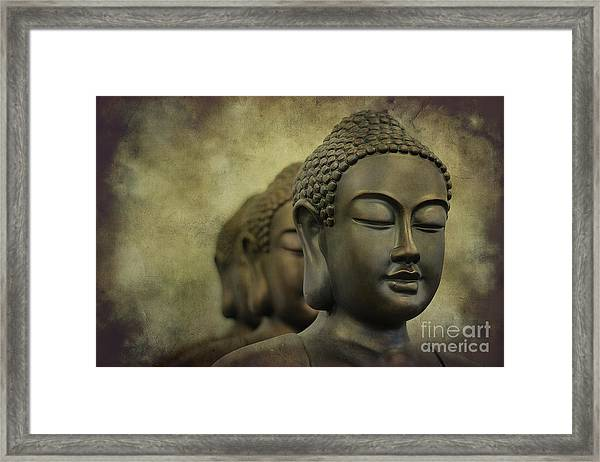 Buddha Bronze Framed Print
