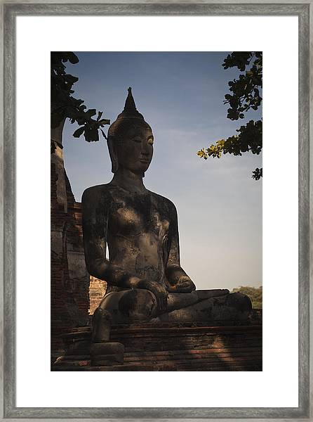 Buddha In Wat Mahathat Framed Print