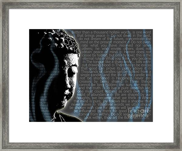 Buddha Quotes Framed Print